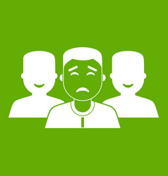 people group icon green vector image