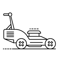 Petrol lawn mower icon outline style vector