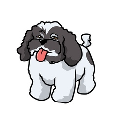 poodle panting vector image