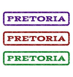 pretoria watermark stamp vector image
