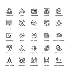 Project management line icons set 1 vector