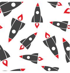 rocket seamless pattern background business flat vector image