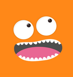 Screaming monster head boo spooky face emotion vector