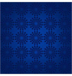 seamless pattern with snowflakes on a blue backgro vector image