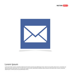 Send mail icon - blue photo frame vector