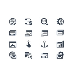 Seo Search engine optimization icons vector image