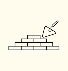 simple linear of a brick wall vector image