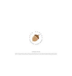 Simple minimalist oak acorn nut logo design vector