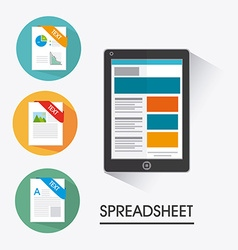 Spreadsheet design vector