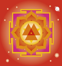 Spring yantra for wellbeing vector