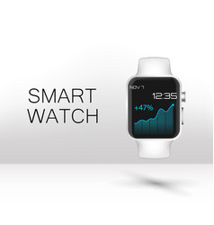 stainless silver smart watch vector image