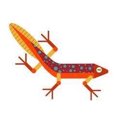 Swimming newt salamander icon in flat design vector