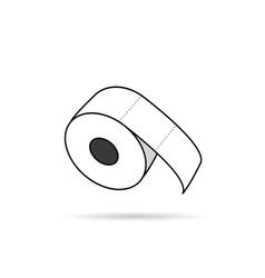 Toilet paper roll in white vector