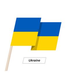 ukraine ribbon waving flag isolated on white vector image