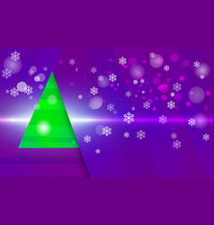 violet light background with snowflakes vector image