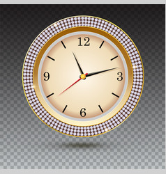 watch with diamonds on transparent background vector image