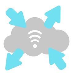 wi fi cloud vector image