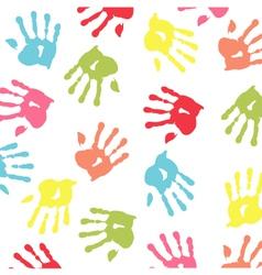 baby handprint wallpaper vector image vector image