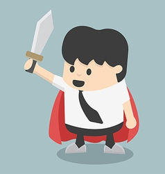 Businessman sword vector image vector image