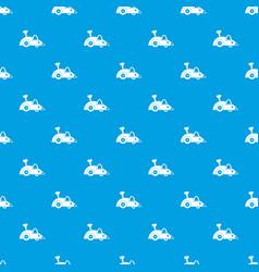 clockwork mouse pattern seamless blue vector image