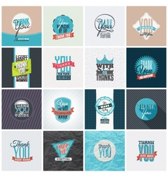 Collection of Thank You Card Designs vector image vector image
