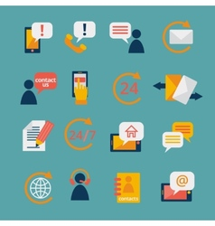 Contact Us Service Icons vector image vector image