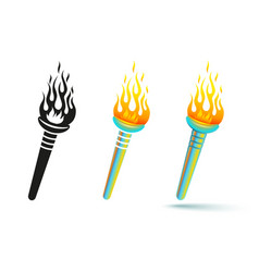 holographic torch vector image