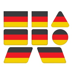buttons with flag of Germany vector image