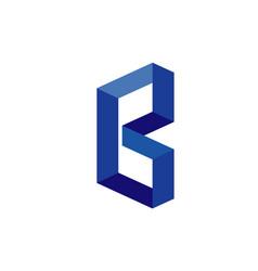 creative letter b b technology logo vector image