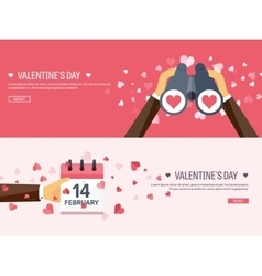 Flat background with vector image vector image