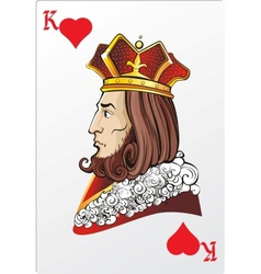 King of heart Deck romantic graphics cards vector image