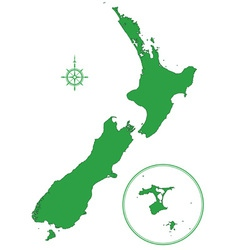 New Zealand map vector image