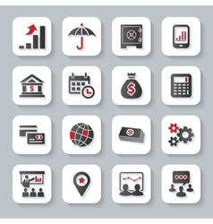 Set of flat modern business web icons vector