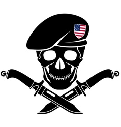 sign of special forces of USA vector image vector image