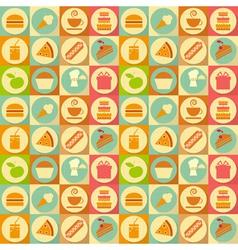 flat food seamless vector image vector image