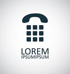 Phone dial icon vector