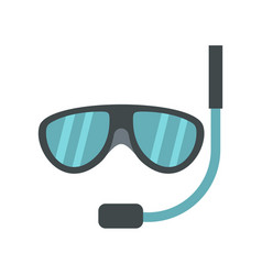 Swimming mask icon flat style vector