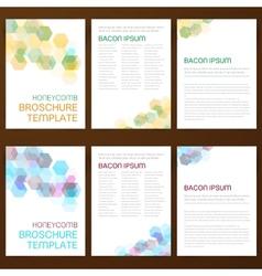 Abstract modern flyer brochure vector image vector image