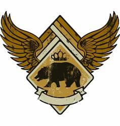 bear kink army vector image vector image