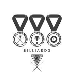 Billiards Set vector image vector image