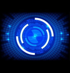 blue tech circle and technology background vector image