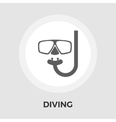 Diving Flat Icon vector image