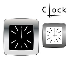 Metal watch in two colors vector image