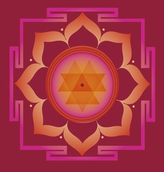 spring yantra for health and wellbeing vector image vector image