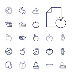 22 apple icons vector