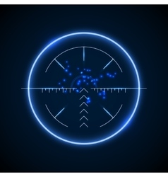 Accurate sniper scope neon luminous target vector