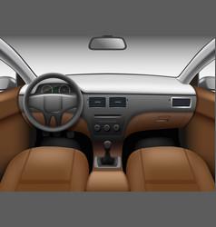 Automobile salon car interior template with vector