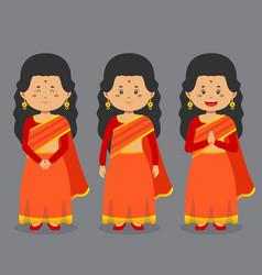 Bangladesh character with various expression vector