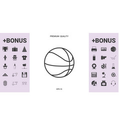 basketball ball line icon - graphic elements for vector image