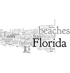 Best beaches in florida vector